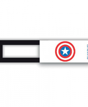 Webcam cover / schuifje  - licentie™ - Captain America 01 -wit