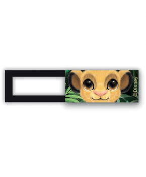 Webcam cover / schuifje  - licentie™ - Simba Friends - oranje