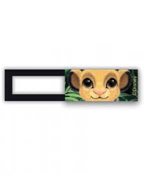Webcam cover / schuifje  - licentie™ - Simba Friends - oranje