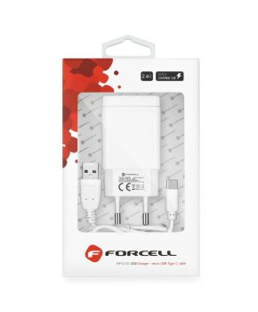 Forcell - Reislader met micro USB-type-C - 2,4A met Quick Charge