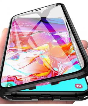 """Magnetische aluminium case volledig van glas – iPhone 11 6.1 """" – zwart"""