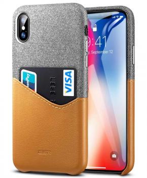 ESR Metro case voor Iphone XS Max - bruin/grijs