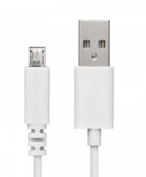 USB naar Micro-usb 2 meter extra lange kabel oplader - wit