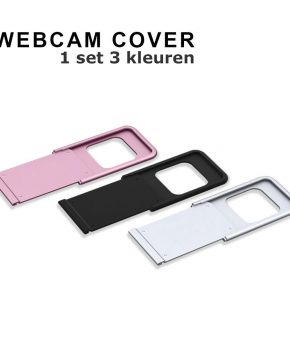 3 pack webcam cover - Privé camera cover - 3 kleuren