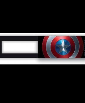 Webcam cover / schuifje  - licentie™ - Captain America 02 - zwart