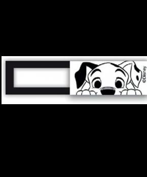 Webcam cover / schuifje  - licentie™ - 101 Dalmatiërs - wit