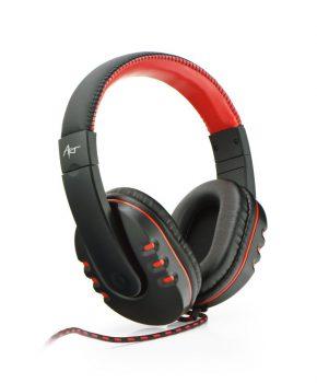 Gaming Headset met mic - ART NEMEZIS - rood