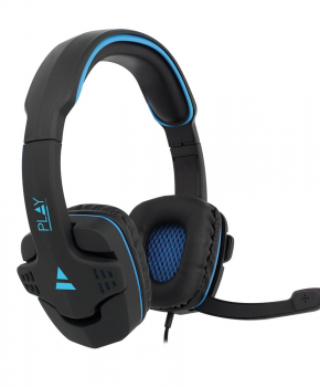 Game headset  over ear - met mic - Ewent PL3320 - blauw