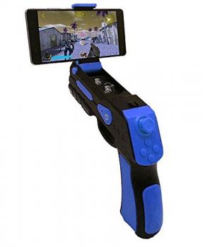 Augmented reality gun blaster zwart/blauw - voor IOS/Android