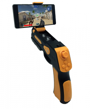 Augmented reality gun blaster zwart/oranje - voor IOS/Android
