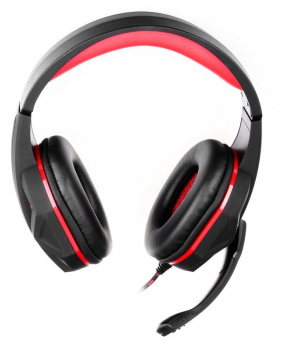 Gaming Headset met mic - ART hero - rood - USB