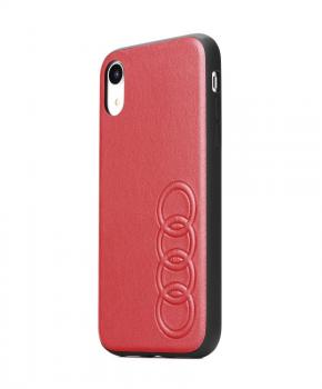 Originele AUDI lederen case voor iPhone 11- rood