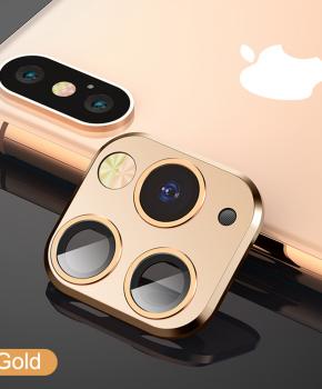 voor iphone X/Xs/Xs Max cameralens iPhone 11 Pro stijl 1 - goud