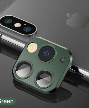 voor iphone X/Xs/Xs Max cameralens iPhone 11 Pro stijl 1 - groen