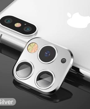 voor iphone X/Xs/Xs Max cameralens iPhone 11 Pro stijl 1 - zilver