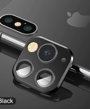 voor iphone X/Xs/Xs Max cameralens iPhone 11 Pro stijl 1 - zwart