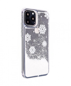 Kersthoesje TPU voor iPhone 11 PRO ( 5.8 ) - sneeuwvlokken