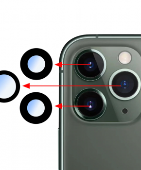 "Voor iPhone 11 Pro Max 6.5""  achter camera lens + tape"
