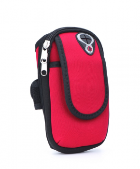 Sport armband tasje FULL CLOSE - rood