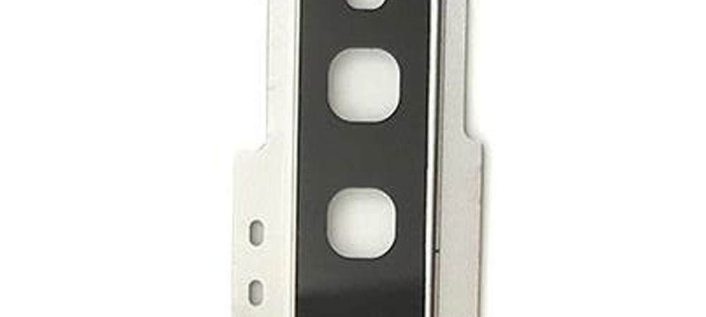 Achter camera cover met lens glas voor de Samsung Galaxy S10 – zilver