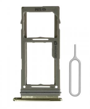Single SIM + SD houder voor de Samsung Galaxy S10/S10 Plus - geel