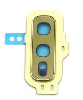 Achter camera cover met lens glas voor de Samsung Galaxy S10E - geel
