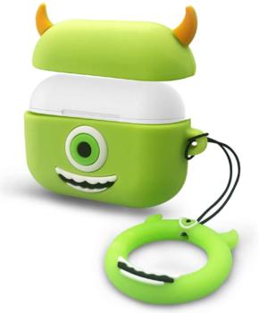 Cartoon Silicone Case voor Apple Airpods Pro - groene eenoog