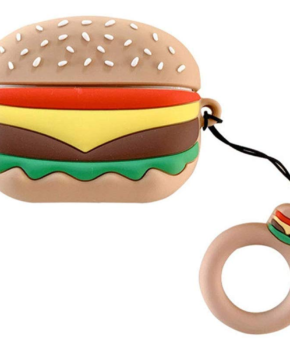 Cartoon Silicone Case voor Apple Airpods Pro - hamburger