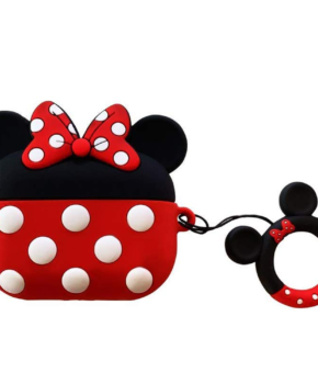 Cartoon Silicone Case voor Apple Airpods Pro - Rood strikje