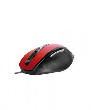 Phoenix  Optical Gaming Muis PH5035R -1000/1600 DPI Resolutie - zwart/rood