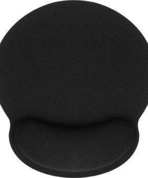 Ergonomische polssteun muismat 250x230x25mm - zwart