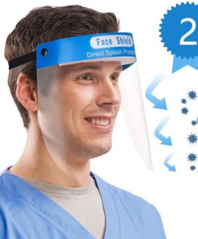 2 stuks Gelaatsscherm - antispat gezichtsmasker anti-condens