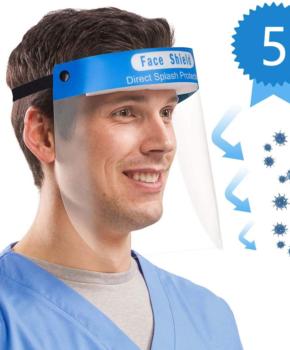 5 stuks Gelaatsscherm - antispat gezichtsmasker anti-condens