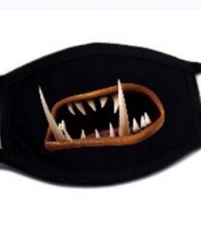 Katoenen fun Gezichtsmasker met oorlussen - 3d horrror teeth