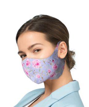 Beschermende masker met zilver Ionen Antibacteriële Filter - bloemen
