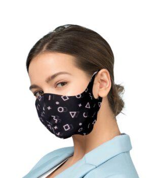 Beschermende masker met zilver Ionen Antibacteriële Filter - Geometrisch
