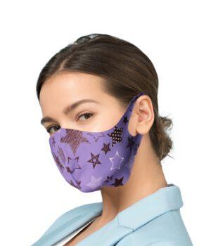 Beschermende masker met zilver Ionen Antibacteriële Filter - Purple sky