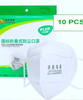10 stuks - ffP2 gezichtsmasker GB2626 2006 - disposable