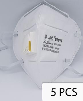 5 stuks NK95 ffp2 gezichtsmasker met ademfilter - GB2026-2006 - 9501V