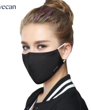 PM 2.5 mondmasker / mondkapje herbruikbaar – zwart - 2 extra filters