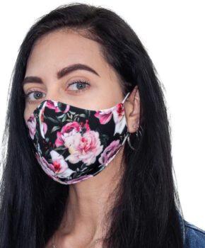 Streetwear katoenen wasbaar mondmasker - bloemen