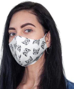 Streetwear katoenen wasbaar mondmasker - poezen