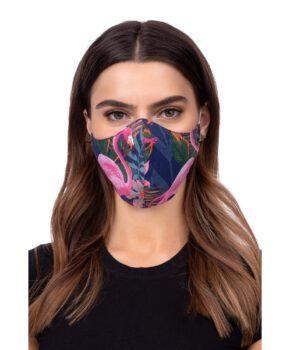 Wasbaar geprofileerd gezichtsmasker - flamingo