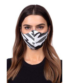 Wasbaar geprofileerd gezichtsmasker - grijze camouflage