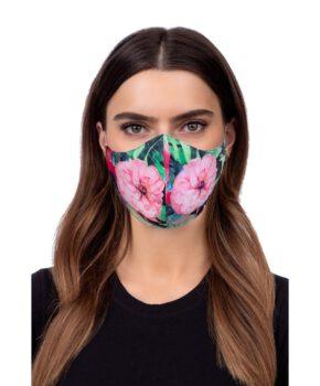 Wasbaar geprofileerd gezichtsmasker - bloemen