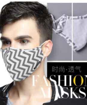 PM 2.5 mondmasker / mondkapje herbruikbaar – grijs - 2 extra filters
