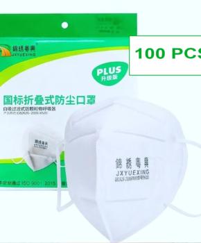 100 stuks - ffP2 gezichtsmasker GB2626 2006 - certified
