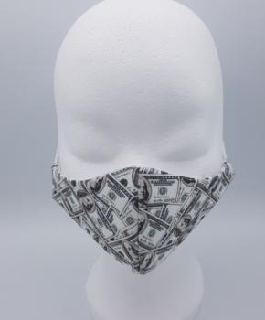 Streetwear katoenen wasbaar mondmasker - dollars