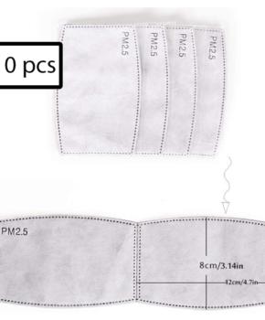 10 stuks PM 2.5 filters voor gezichtsmasker - mondmasker -  grijs