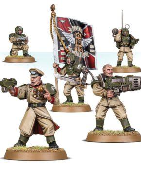 Warhammer 40K- Astra Militarum -Cadian Command Squad - verzamelfiguur